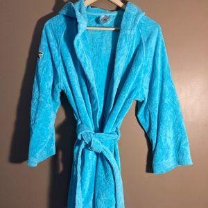 Lacoste blue bathrobe